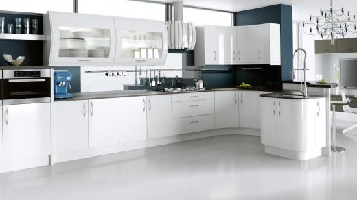 Ultra High Gloss White with Tavola Oak Brown Grey Main